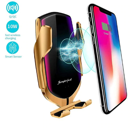 Automatic Clamping Quick Car QI Wireless Charger Stand