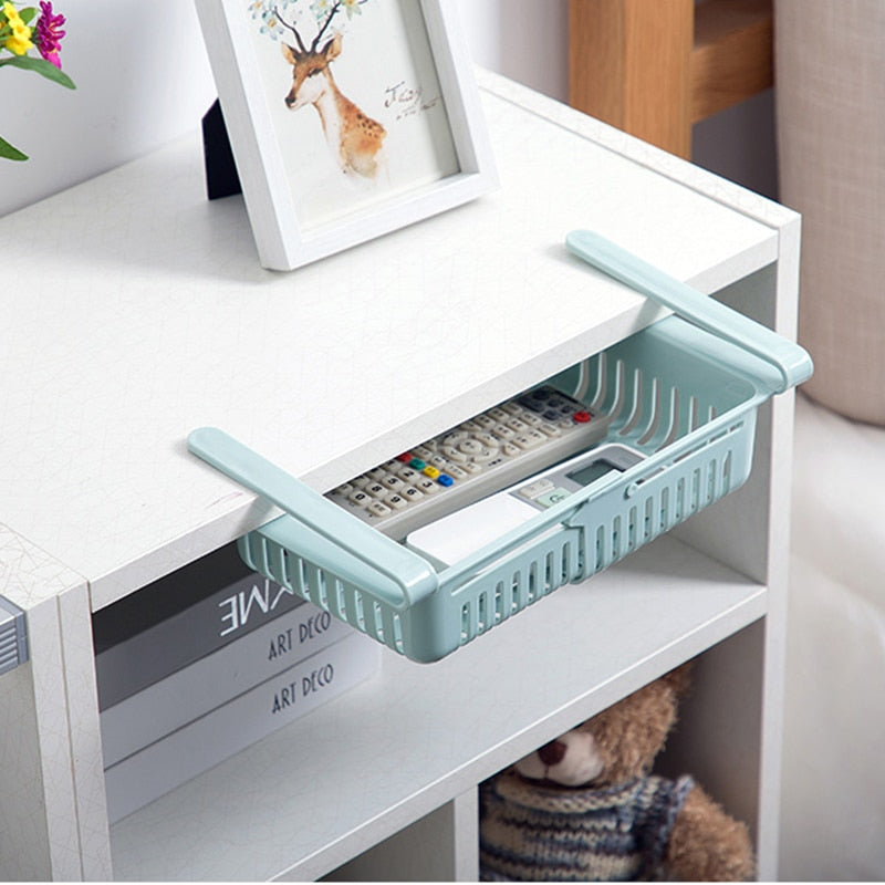Refrigerator Organizer Kitchen Adjustable Drawer