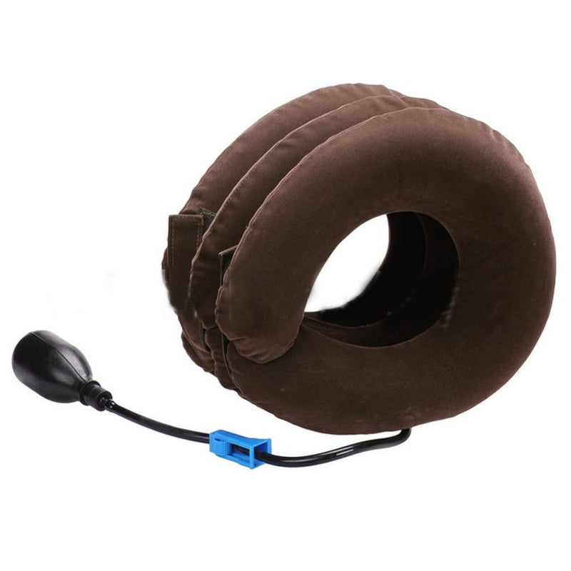Three Layers Cervical Neck Traction Inflatable Pillow