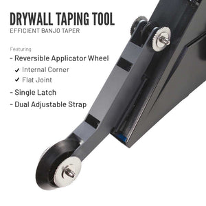 Drywall Taping Tool with Quick-Change Applicator Wheel
