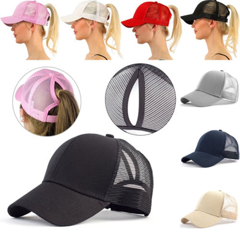 High Ponytail Trucker Baseball Cap