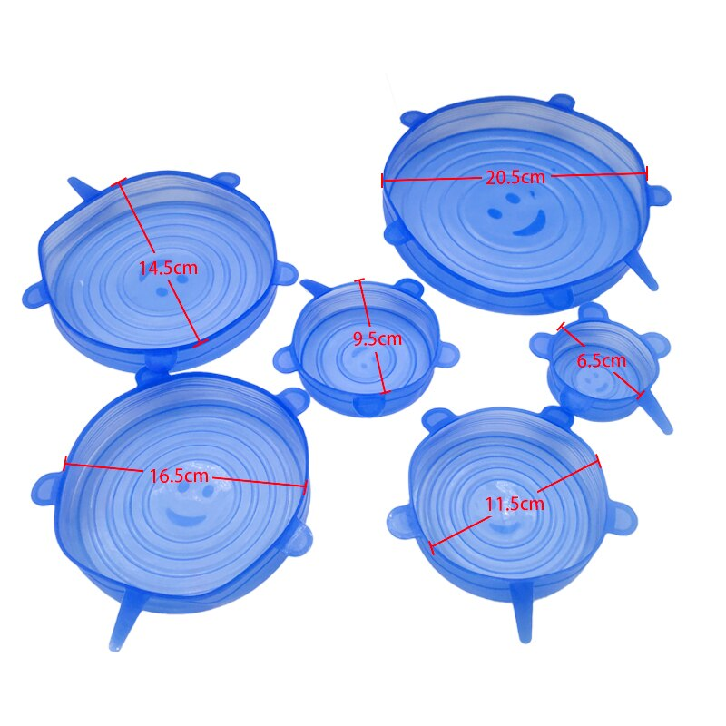 Universal Silicone Stretch Lids 6pcs.