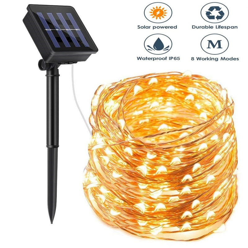 LED Outdoor Solar String Fairy Lights