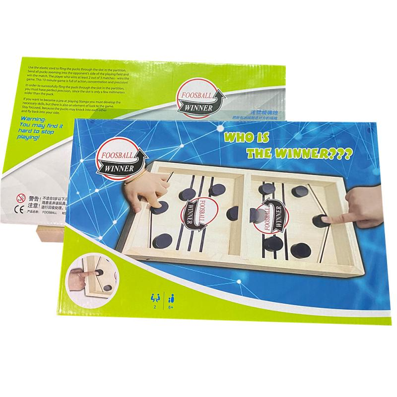 Fast Hockey Sling Puck Board Game