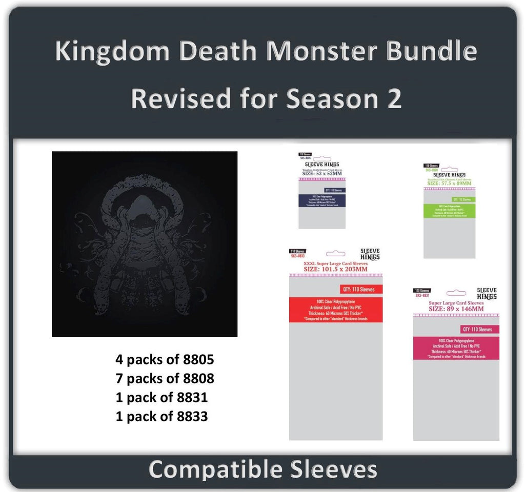 """Kingdom Death: Monster"" Compatible Sleeve Bundle (8805 X 4 + 8808 X 7 + 8831 X 1 + 8833 X 1)"