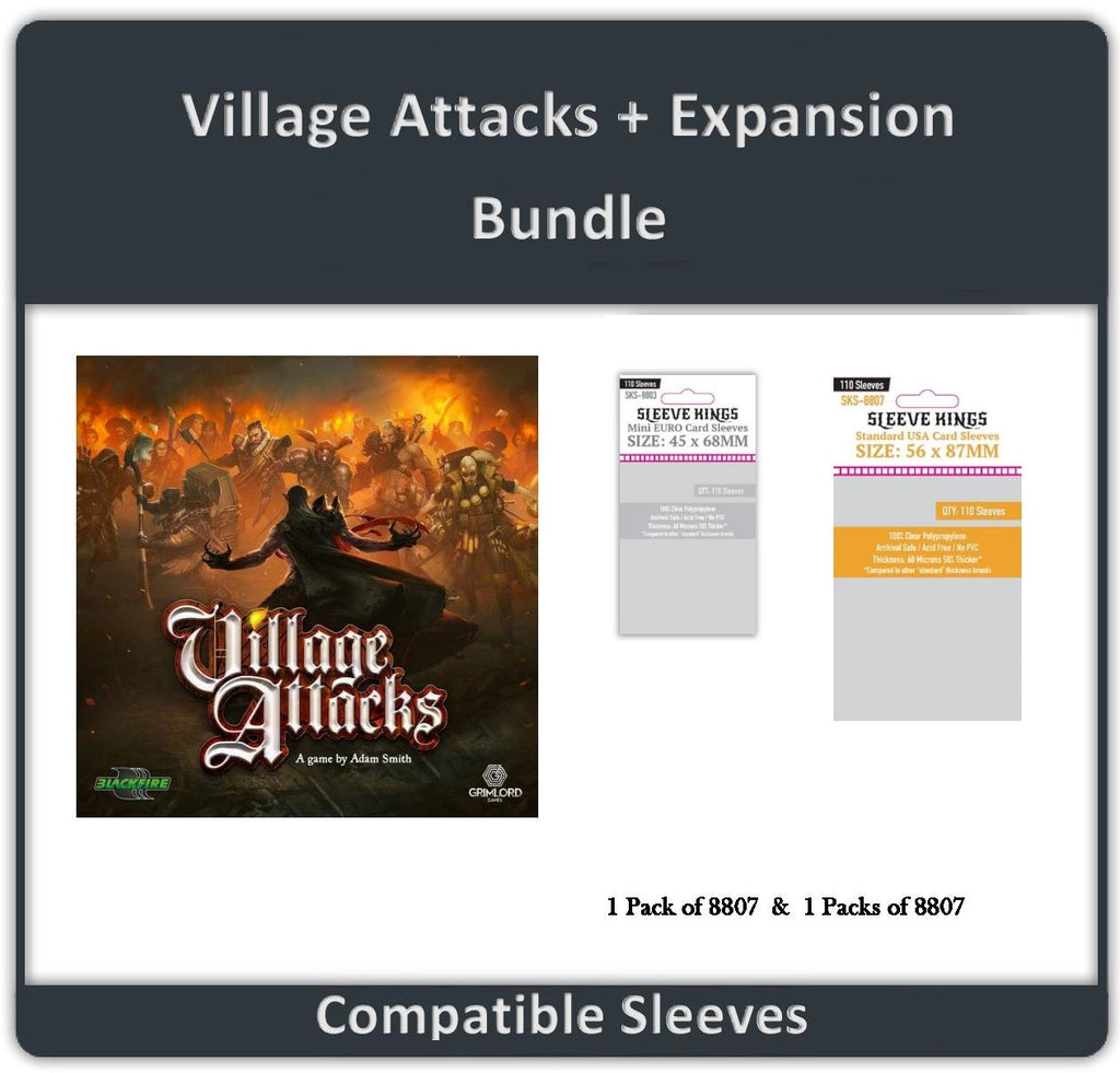 """Village Attacks + Expansion"" Compatible Sleeve Bundle (8803 X 1 + 8807 X 1)"