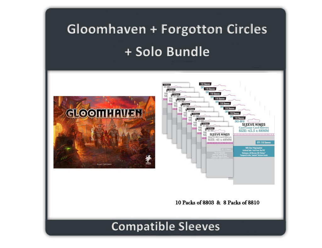 """Gloomhaven"" Compatible Sleeve Bundle (8803 X 10 + 8810 X 8)"