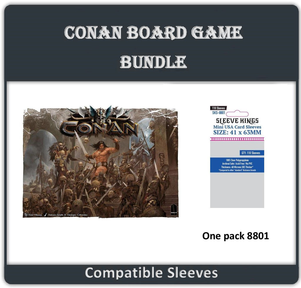 """Conan Board Game"" Compatible Sleeve Bundle (8801 X 1)"