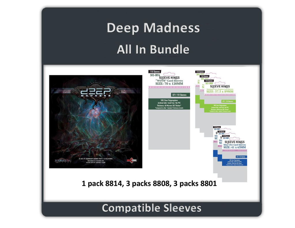 """Deep Madness All-in"" Compatible Sleeve Bundle (8814 X 1 + 8808 X 3 + 8802 X 3)"