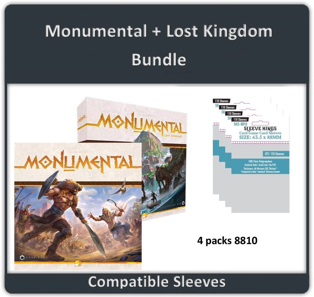 """Monumental + Lost Kingdom Expansion""Compatible Sleeve Bundle (8810 X 4)"