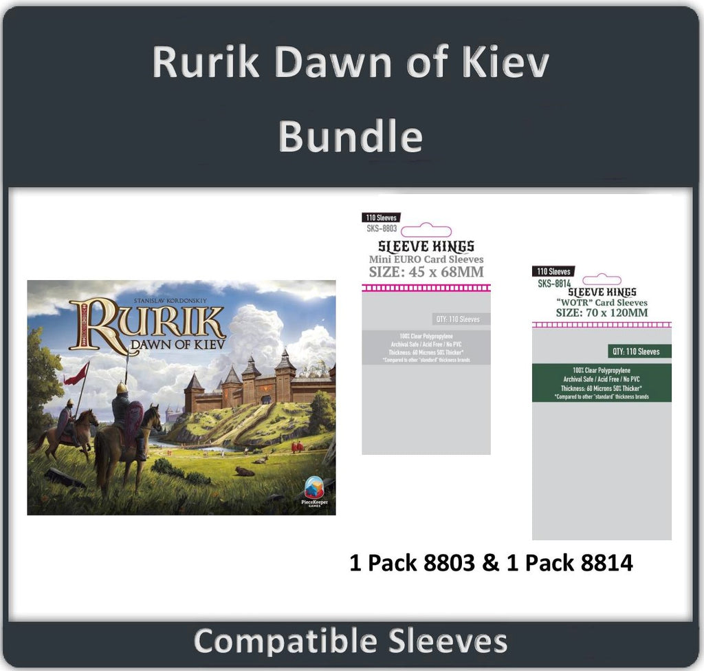 """Rurik: Dawn of Kiev"" Compatible Sleeve Bundle (8814 X 1 + 8803 X 1)"