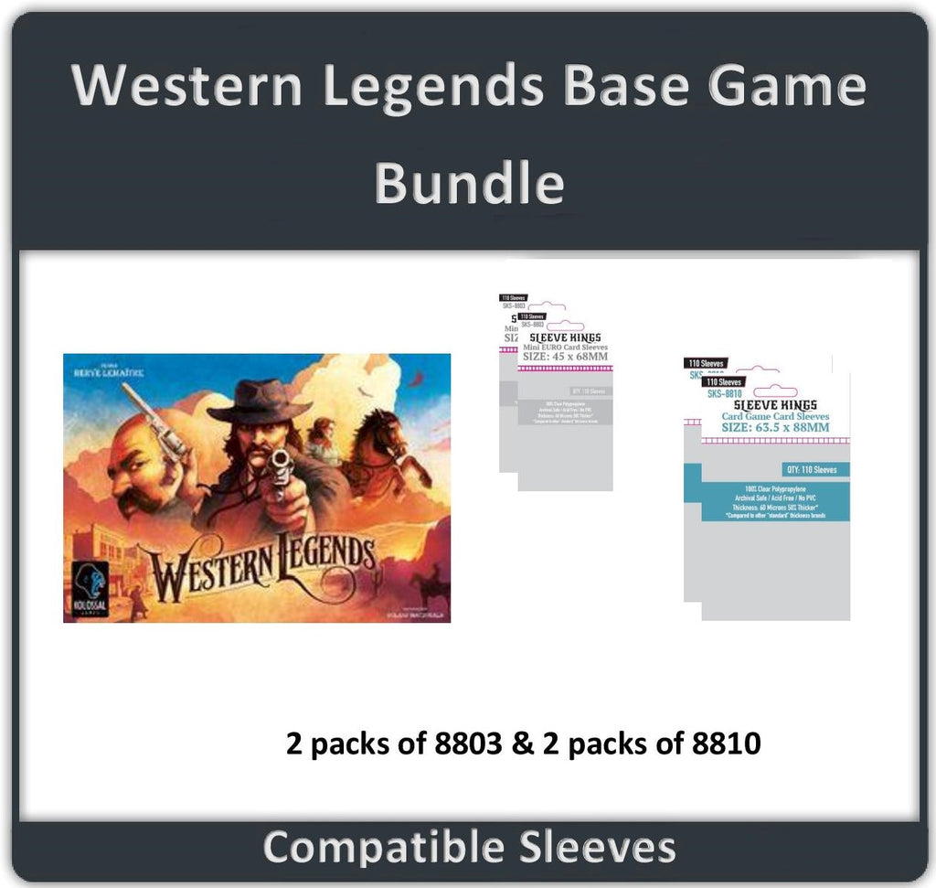 """Western Legends"" Base Game Compatible Sleeve Bundle (8810 X 2 + 8802 X 2)"