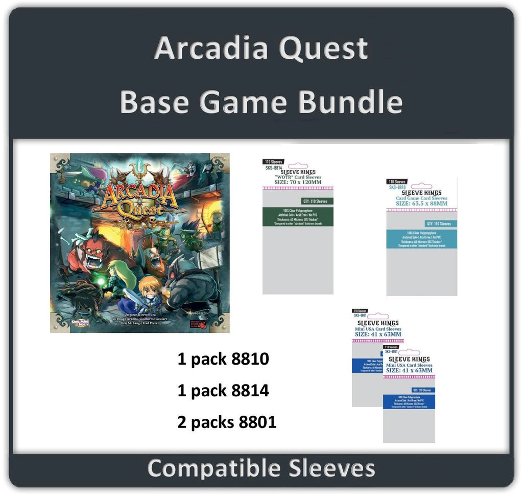 """Arcadia Quest Base Game"" Compatible Sleeve Bundle (8810 X 1 + 8801 X 2 + 8814 X 1)"