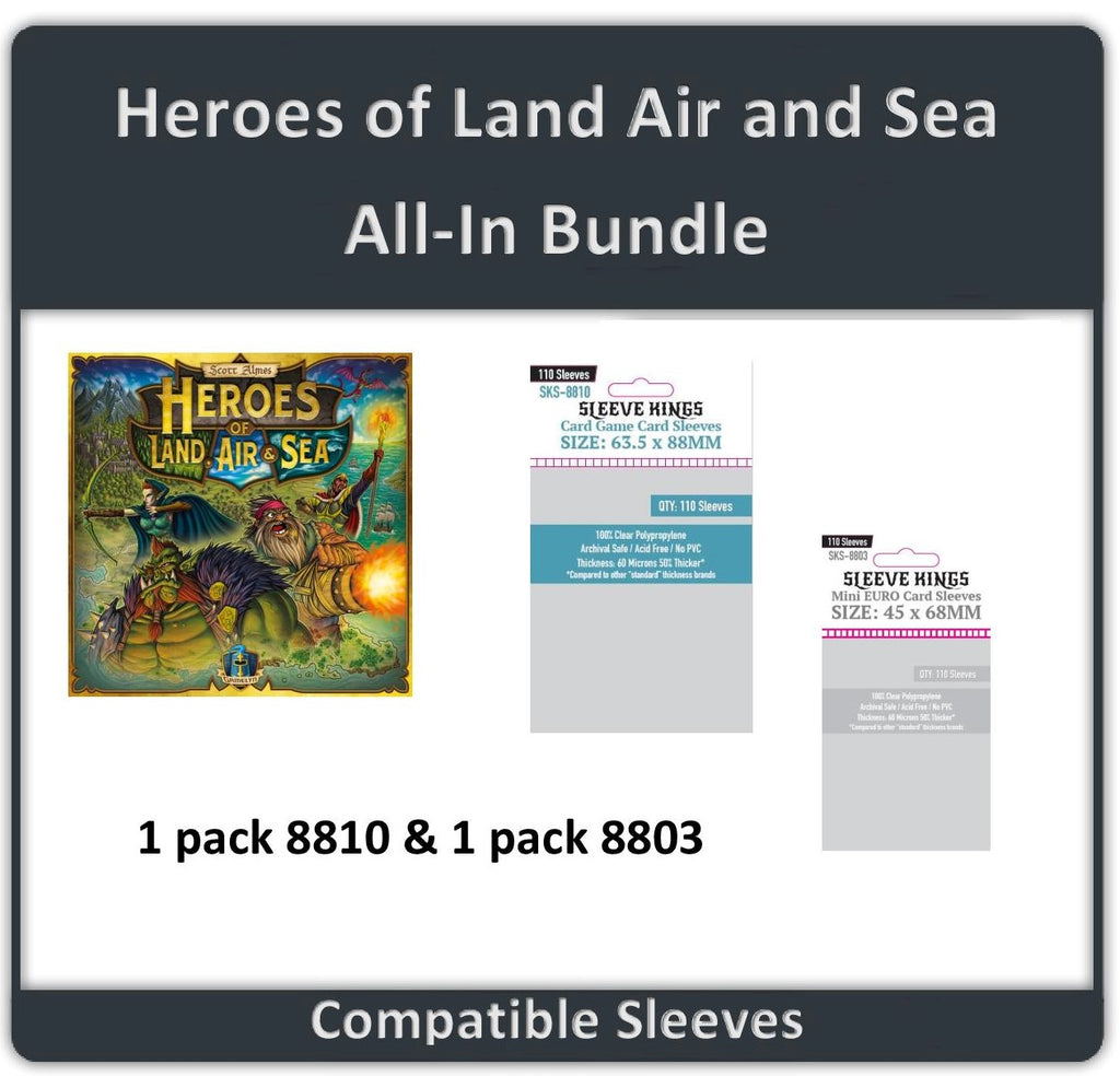 """Heroes of Land Air And Sea All In"" Compatible Sleeve Bundle (8810 X 1 + 8803 X 1)"