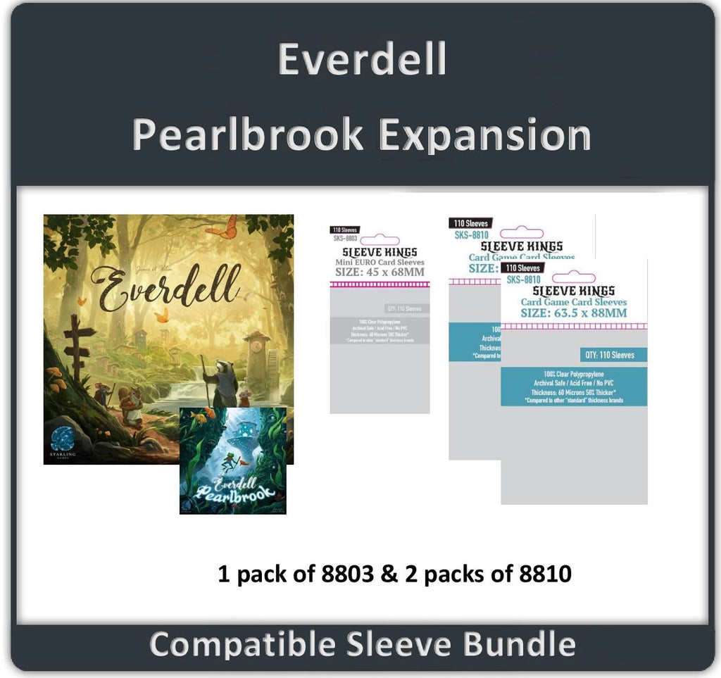 """Everdell + Pearlbrook Expansion"" Compatible Sleeve Bundle (8810 X 2 + 8803 X 1)"