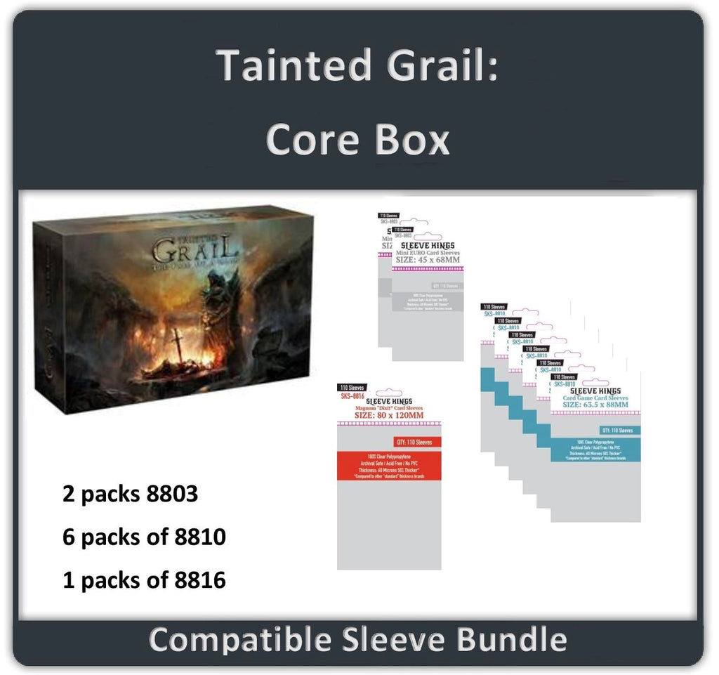 """Tainted Grail: Core Box"" Compatible Sleeve Bundle  (8803 X 2 + 8810 X 6 + 8816 X 1)"