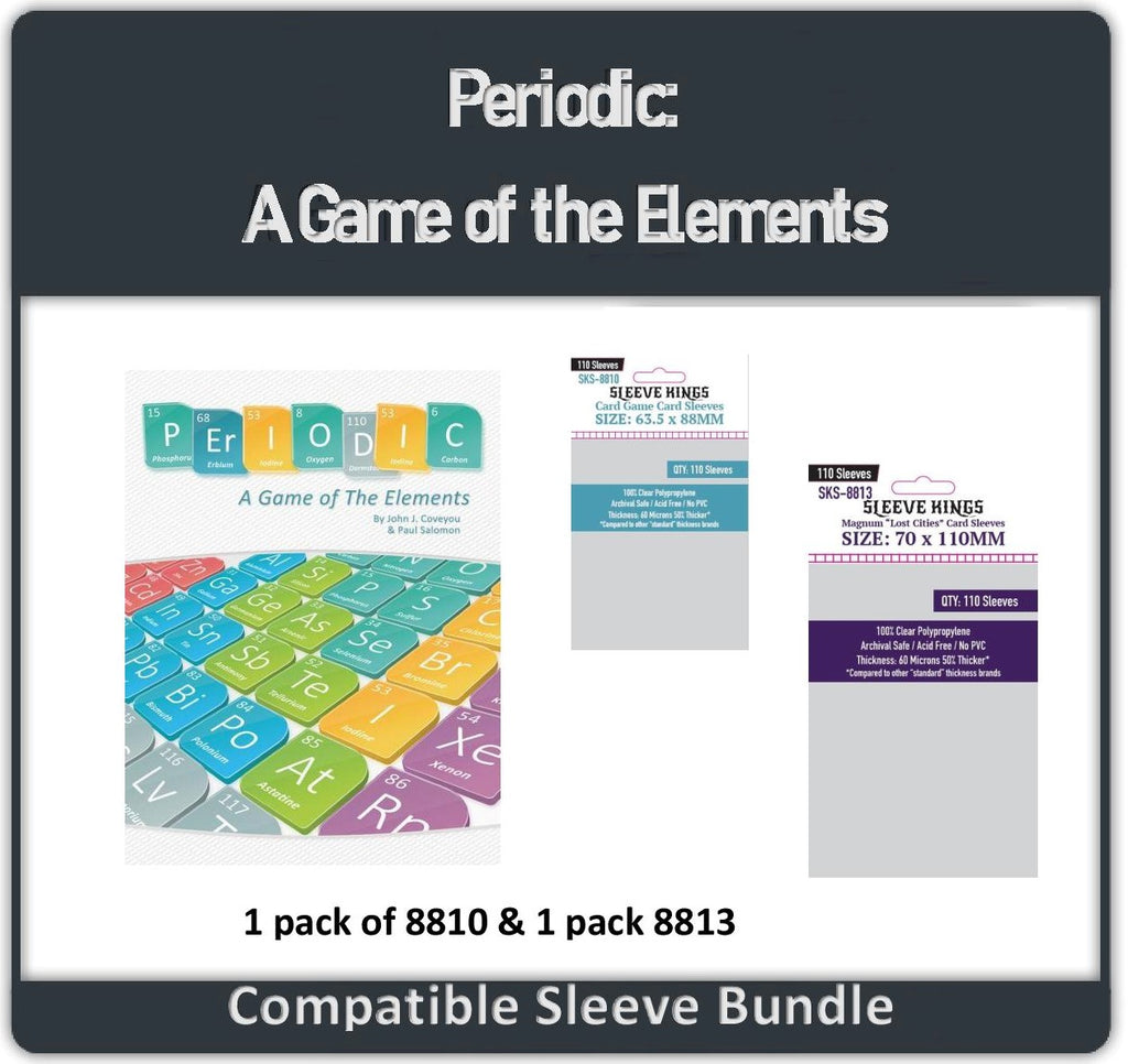 """Periodic: A Game Of The Elements"" Compatible Sleeve Bundle (8813 X 1 + 8810 x 1)"
