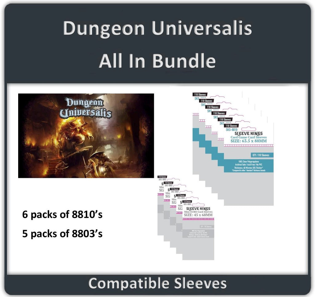 """Dungeon Universalis All In"" Compatible Sleeve Bundle (8810 X 6 + 8803 X 5)"