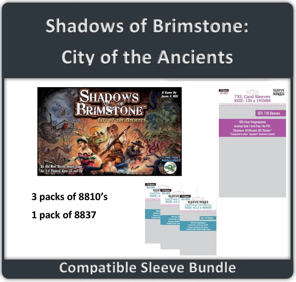 """Shadows over Brimstone: City of the Ancients"" Compatible Sleeve Bundle (8810 X 3 + 8837 X 1)"