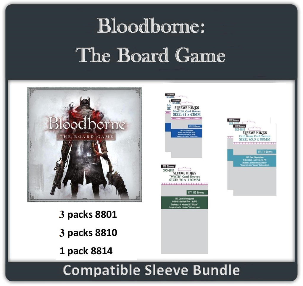 """Bloodborne: The Board Game"" Compatible Sleeve Bundle (8810 X 2 + 8801 X 2 + 8814 X 1)"