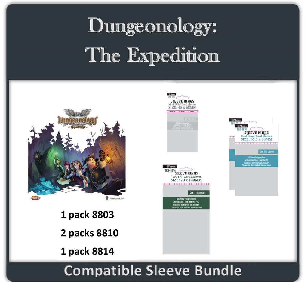 """Dungeonology The Expedition"" Compatible Sleeve Bundle (8803 X 1 + 8810 X 2 + 8814 X 1)"