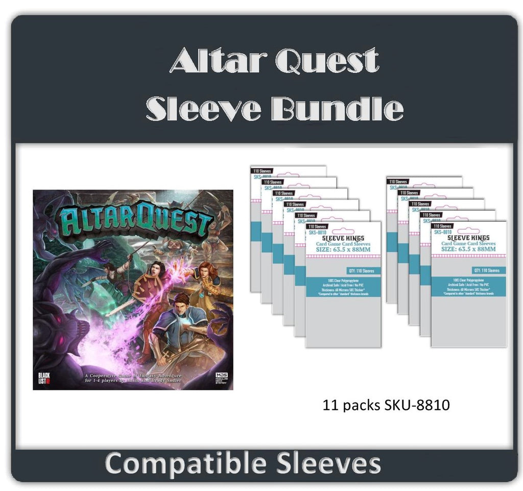 """Altar Quest"" All In Compatble Sleeve Bundle (8810 X 11)"