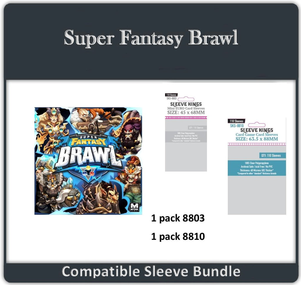 """Super Fantasy Brawl"" Compatible Sleeve Bundle (8803 X 1 + 8810 X 1)"