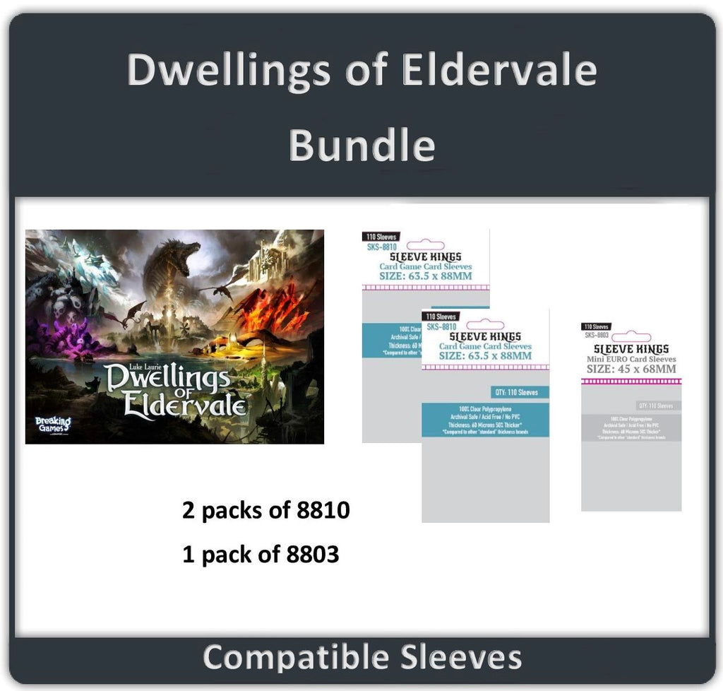 """Dwellings of Eldervale"" Compatible Sleeve Bundle (8803 X 1 + 8810 X 2)"