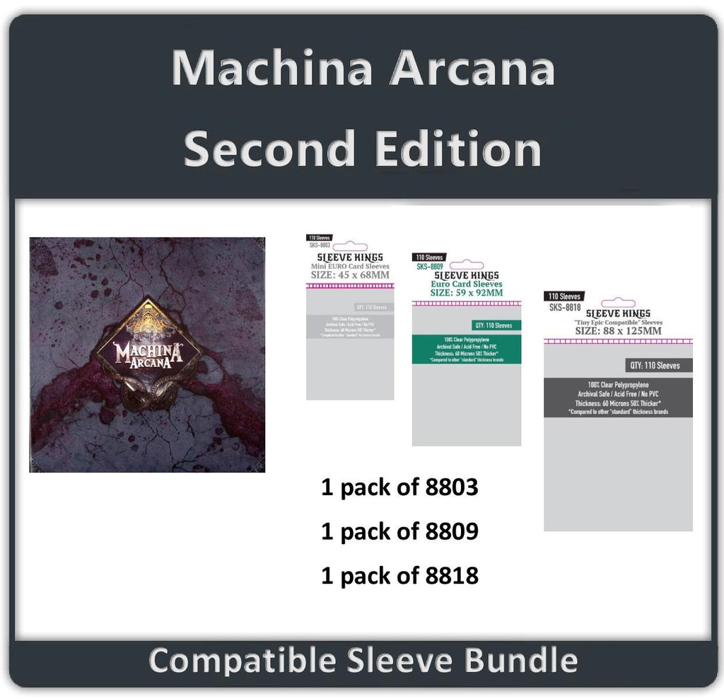 """Machina Arcana Second Edition"" Compatible Sleeve Bundle (8803 X 1 + 8809 X 1 + 8818 X 1)"