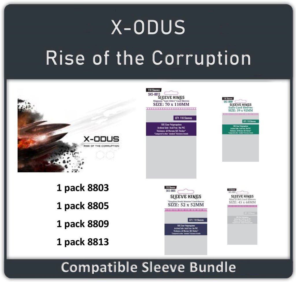 """X-ODUS - Rise of the Corruption"" Compatible Sleeves Bundle (8803 X 1 +8805 X 1 + 8809 X 1 + 8813 X 1)"