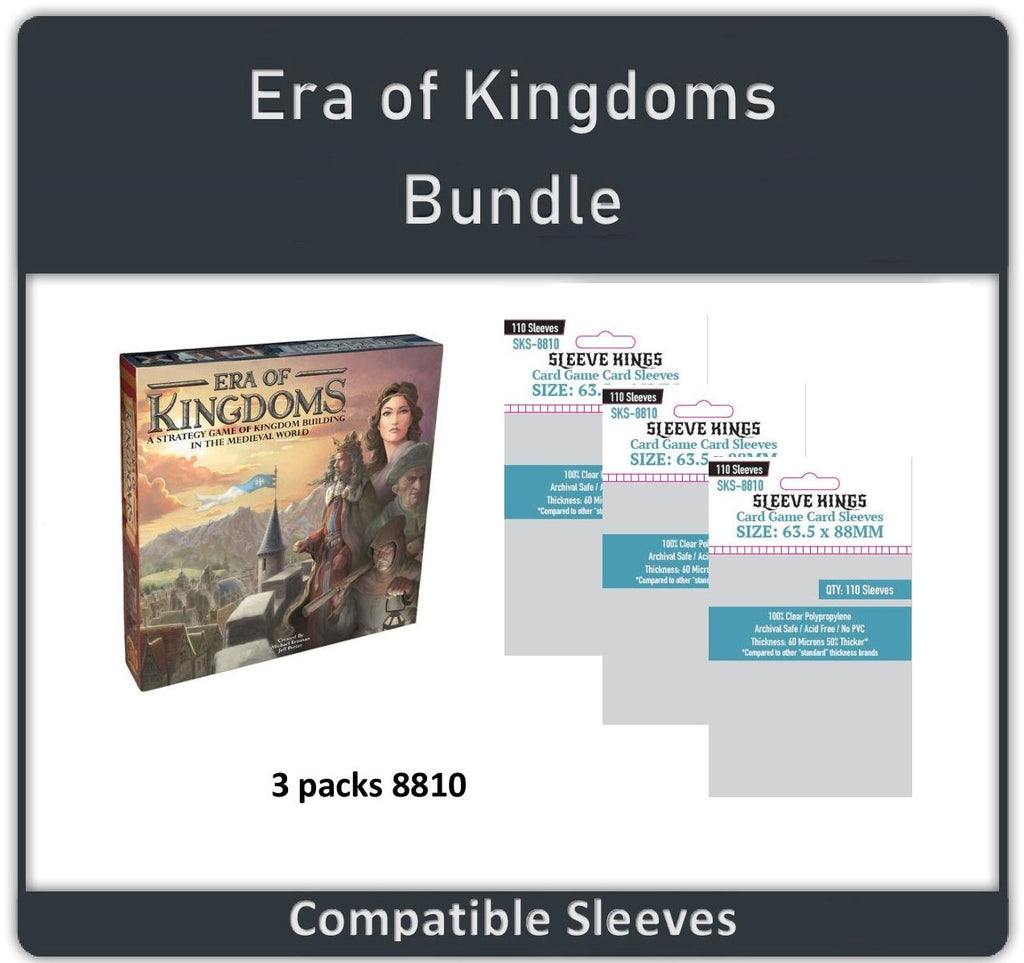 """Era of Kingdoms"" Compatible Sleeve Bundle (8810 X 3)"