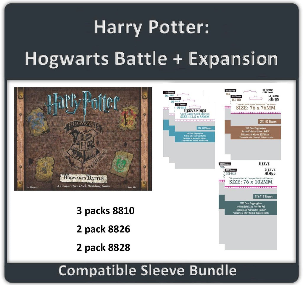"""Harry Potter: Hogwarts Battle + Expansion"" Compatible Sleeve Bundle (8810 X 3 + 8826 X 2 + 8828 X 2)"