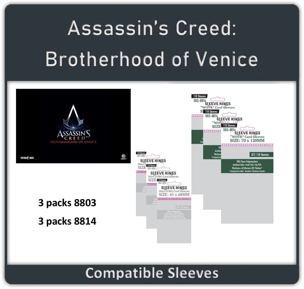 """Assassin's Creed: Brotherhood of Venice ALL IN"" Compatible Sleeve Bundle (8803 X 3 + 8814 X 3)"