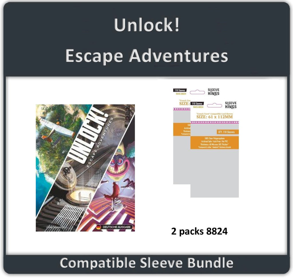 """Unlock! Escape Adventures"" Compatible Sleeve Bundle (8824 X 2)"