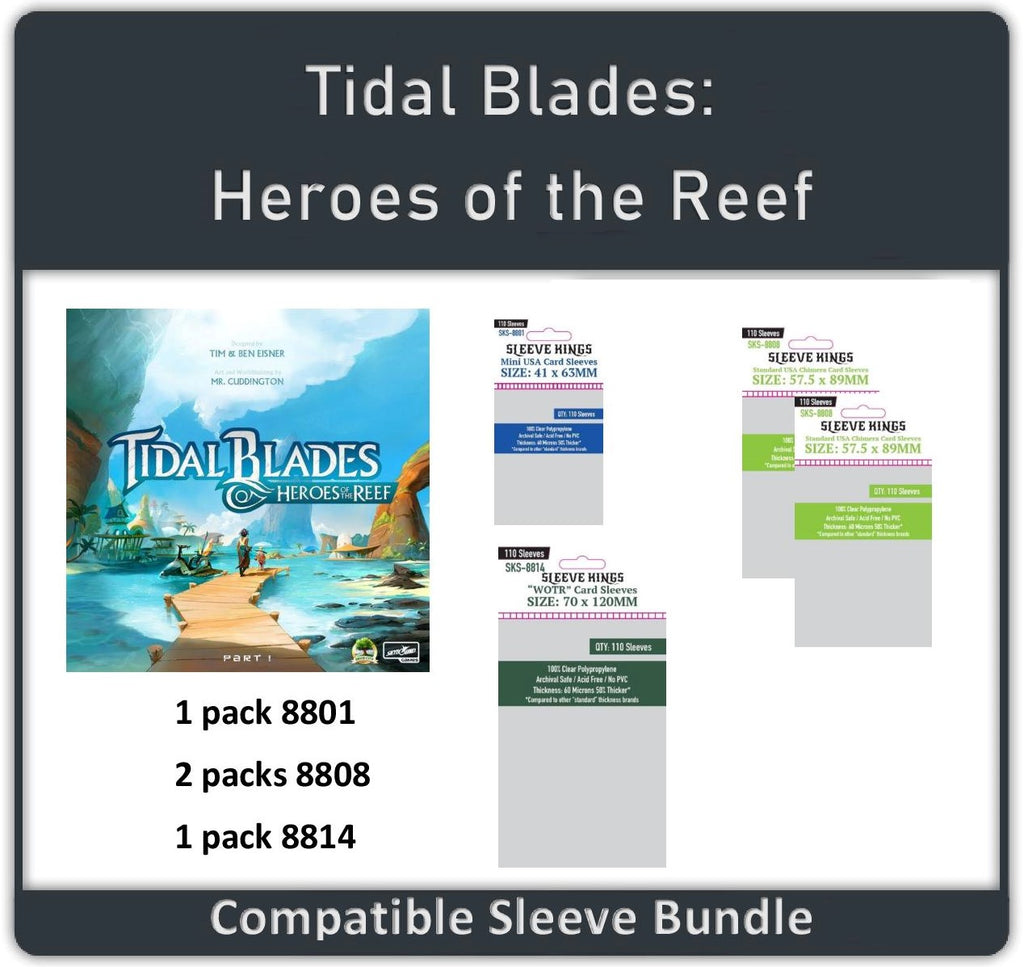 """Tidal Blades: Heroes of the Reef"" Compatible Sleeve Bundle (8801 X 1 + 8808 X 2 + 8814 X 1)"