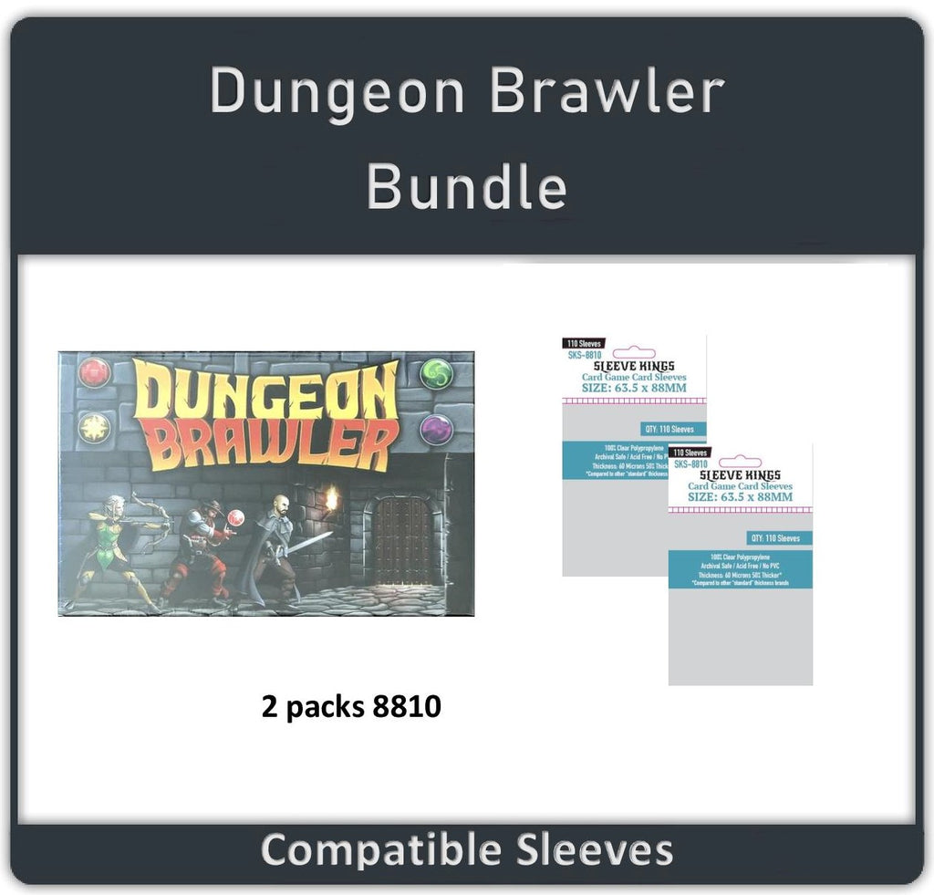 """Dungeon Brawler"" Compatible Sleeve Bundle (8810 X 2)"