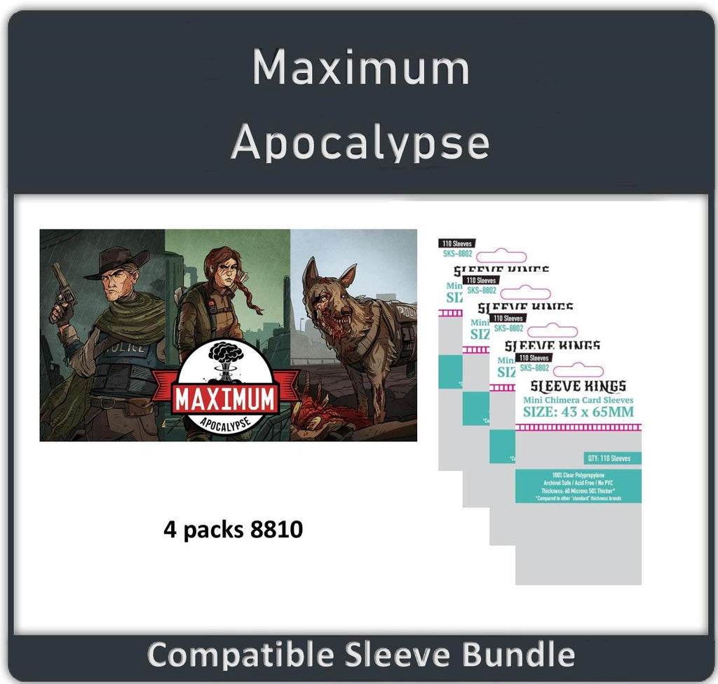 """Maximum Apocalypse"" Compatible Sleeve Bundle (8810 X 4)"