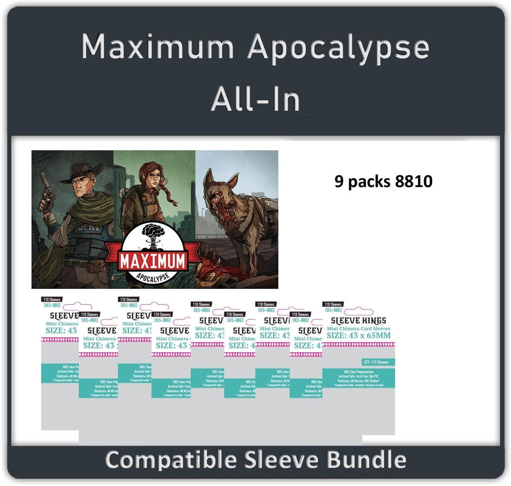 """Maximum Apocalypse ALL IN + All Exp"" Compatible Sleeve Bundle (8810 X 9)"