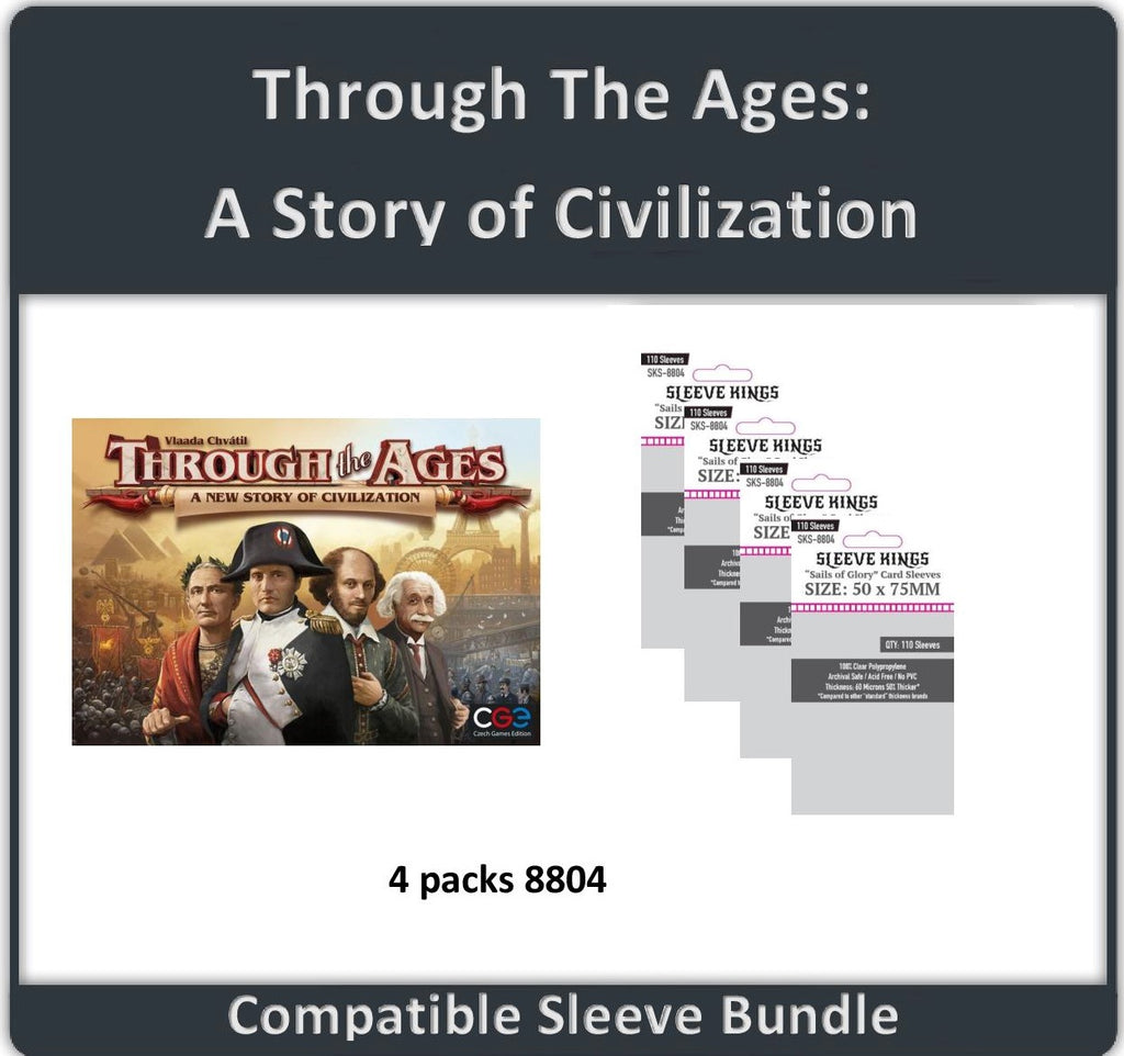 """Through the Ages: A Story of Civilization"" Compatible Sleeve Bundle (8804 X 4)"