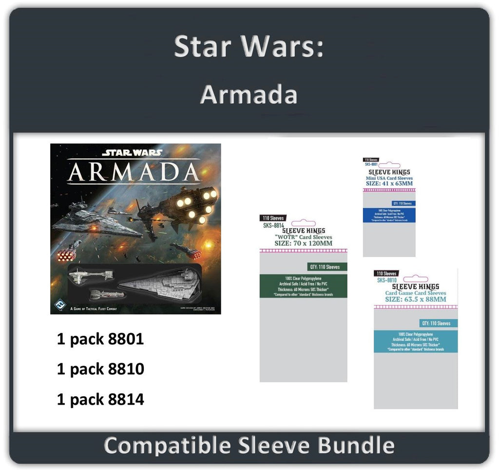 """Star Wars: Armada"" Compatible Sleeve Bundle (8801 X 1 + 8810 X 1 + 8814 X 1)"