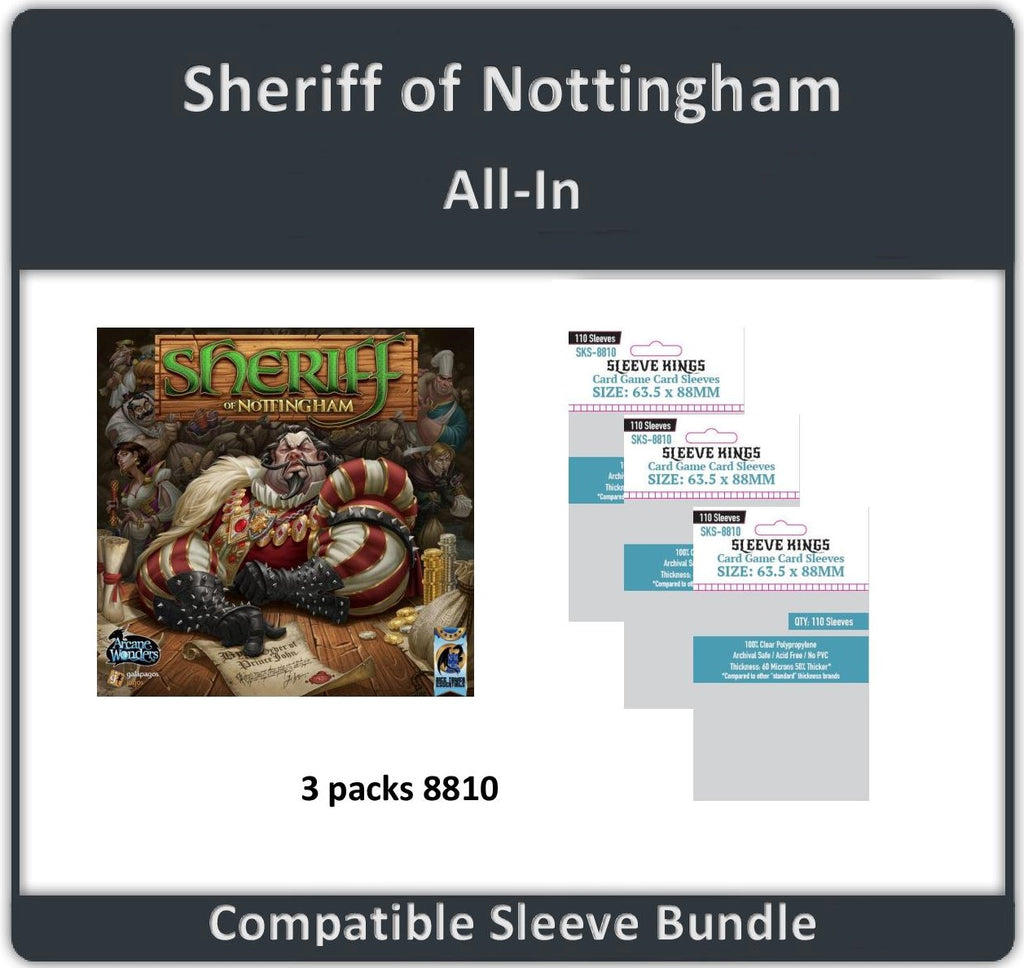 """Sheriff of Nottingham All In"" Compatible Sleeve Bundle (8810 X 3)"
