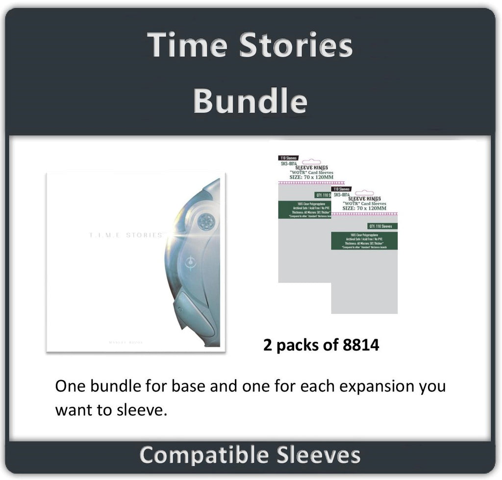 """T.I.M.E Stories"" One Bundle Per Expansion Compatible Sleeve Bundle (8814 X 2)"