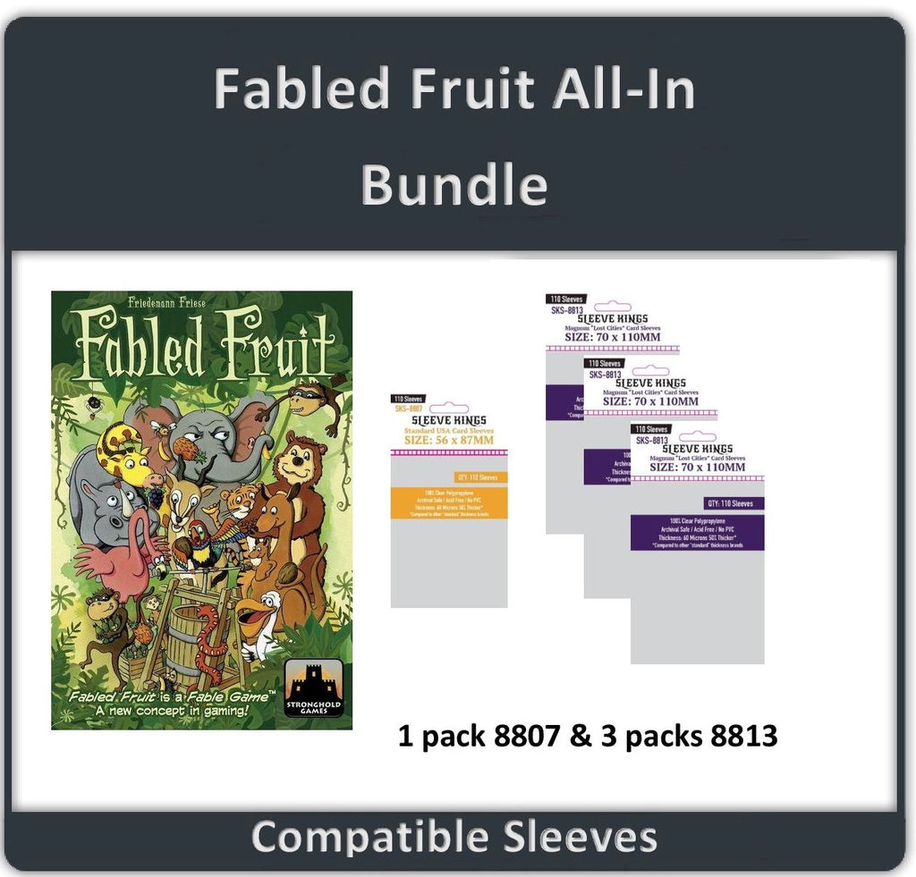 """Fabled Fruit All In"" Compatible Sleeve Bundle (8807 X 1 + 8813 X 3)"