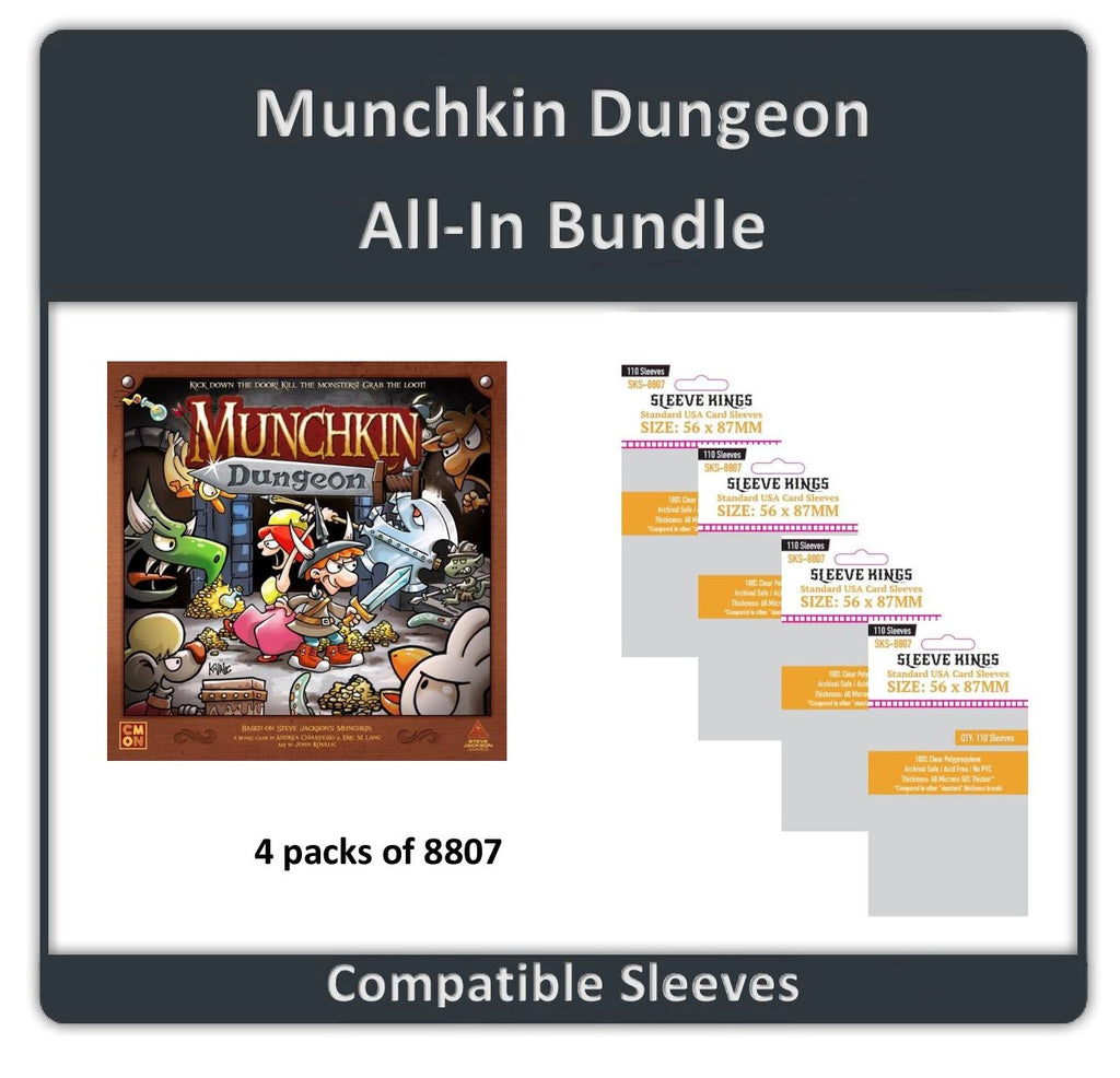 """Munchkin Dungeon All In"" Compatible Sleeve Bundle (8807 X 4)"