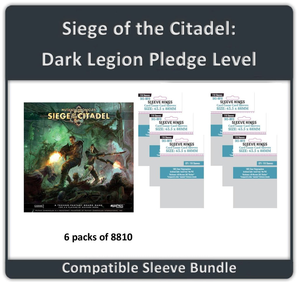 """Siege of the Citadel: Dark Legion Pledge Level"" Compatible Sleeve Bundle (8810 X 6)"
