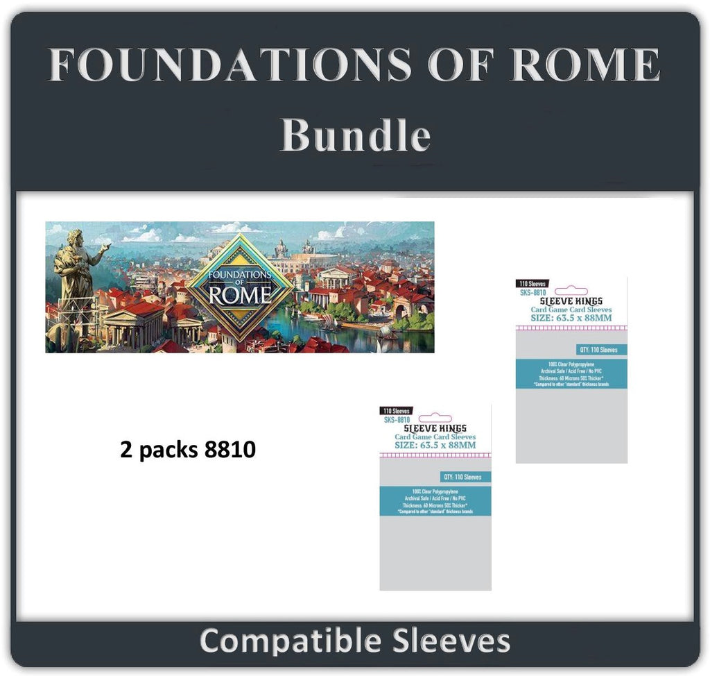 """Foundations of Rome"" Compatible Sleeve Bundle (8810 X 2)"