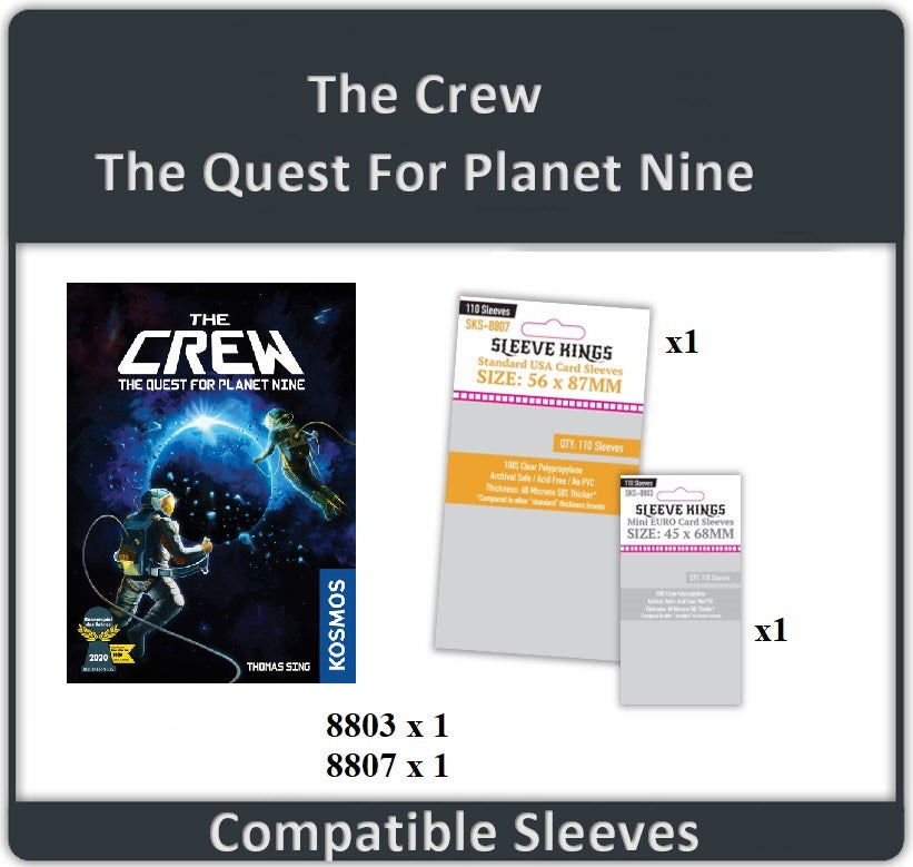 """The Crew: The Quest for Planet Nine"" Compatible Sleeve Bundle (8803 X 1 + 8807 X 1)"