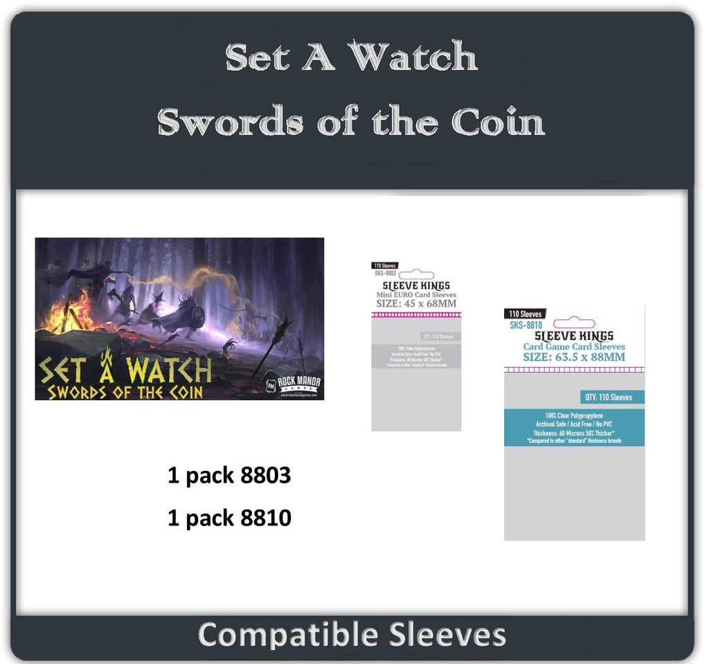 """Set a Watch: Swords Of The Coin"" Compatible Sleeve Bundle (8803 X 1 + 8810 X 1)"
