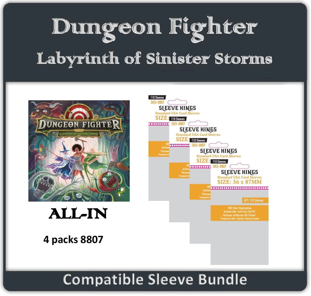 """Dungeon Fighter Labyrinth of Sinister Storms"" All-in Compatible Sleeve Bundle (8807 X 4)"