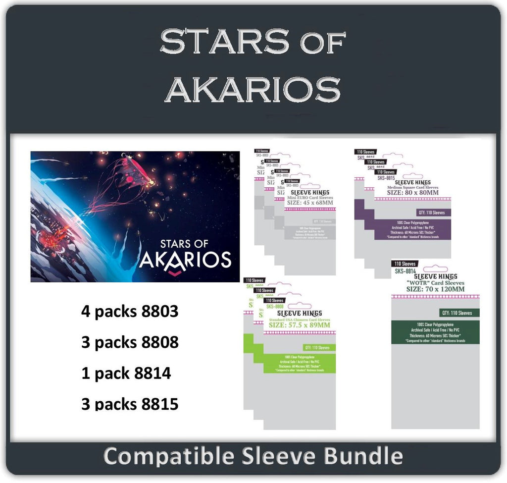 """Stars of Akarios"" Compatible Sleeve Bundle (8803 X 4 + 8808 X 3 + 8814 X 1 + 8815 X 3)"
